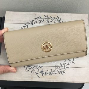Michael kors large flap wallet